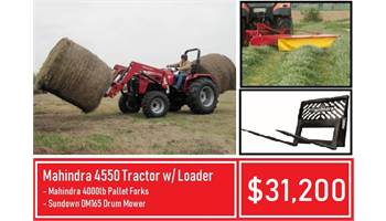 Package deal #7- Mahindra 4550 Tractor Hay Farmer Special