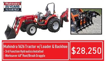 Package Deal #8 - 1626 Tractor w/ Loader & Backhoe & 3rd Function & Grapple