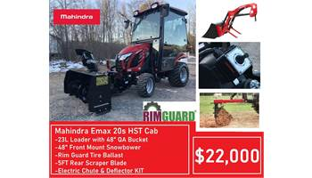 "Package Deal #12 - Emax 20s HST Cab w/ Loader, 48"" Front Snowblower, 5ft Scraper, Ballast"