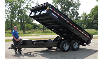 "96""x14ft Heavy Duty Deckover Dump Trailer  w/ Fold-down sides"