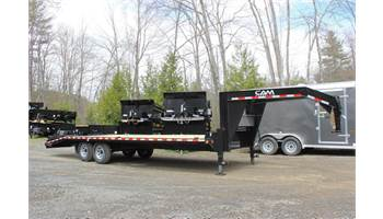 "102"" x25' Gooseneck Deckover Equipment Trailer"