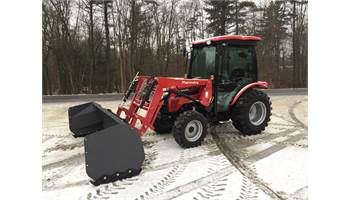 "2545 Shuttle Cab Tractor w/ Loader & 102"" Snow Pusher"