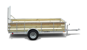 6.5 x 12 utility trailer w/ ramp & wood sides