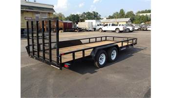 7x18 Tube Top Landscape Trailer (10,000 GVW  w/ Ladder GATE