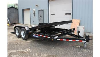7 x 18 Tilt Trailer Equipment Hauler