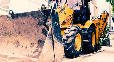 Close up of construction equipment