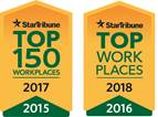 2018 Top Work Places Banner Logo