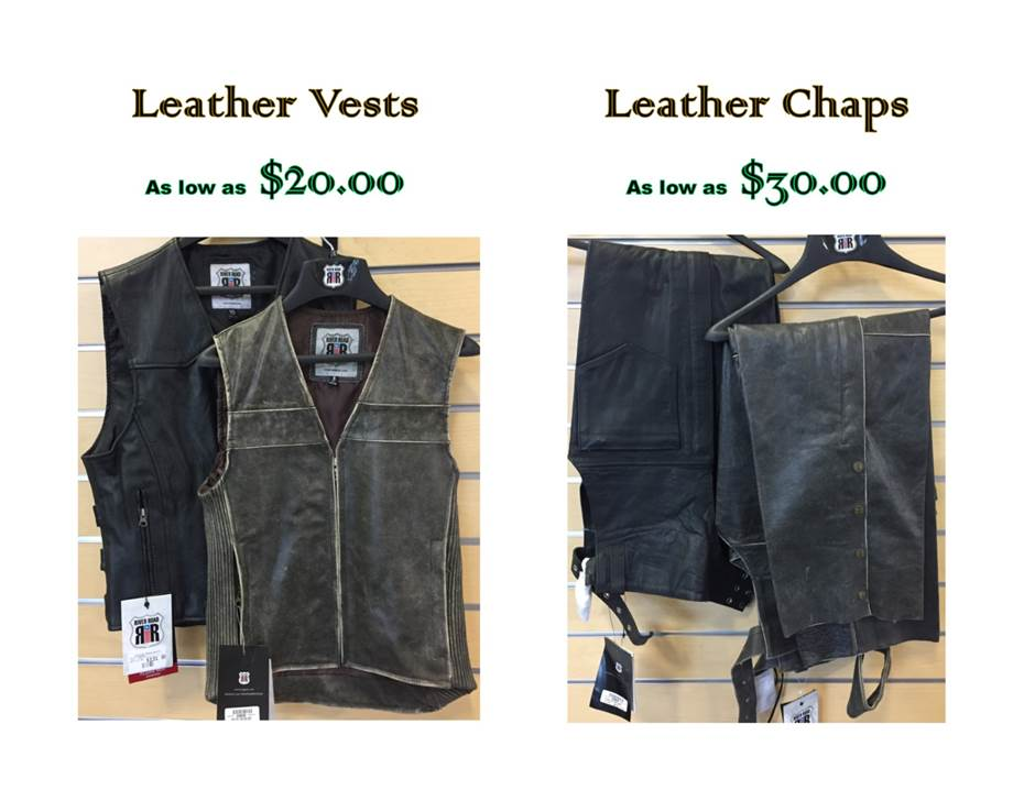 Leather vests and chaps