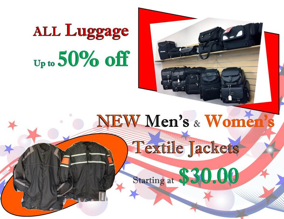Textile jackets and luggage