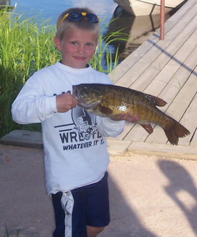 boy with a fish