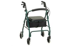 Deluxe 4 Wheel Walker with Seat - Rental