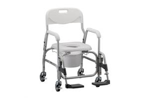 Rolling Commode Shower Chair - Wt. Cap 250lbs