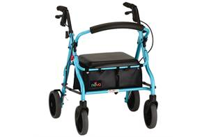 "Zoom Rollator Walker Padded Seat with 8"" wheels"