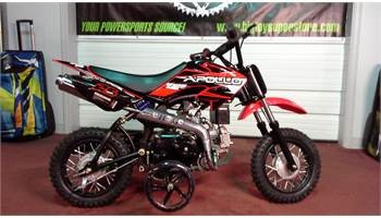 DB-25 70 Automatic Dirt Bike With Training Wheels