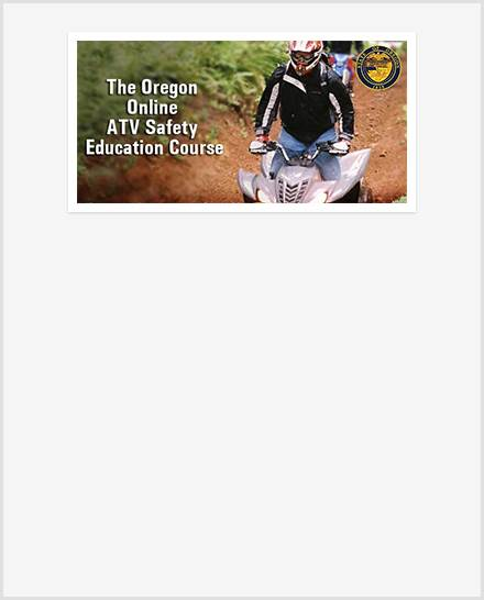 RideATVOregon Online ATV Safety Education Course