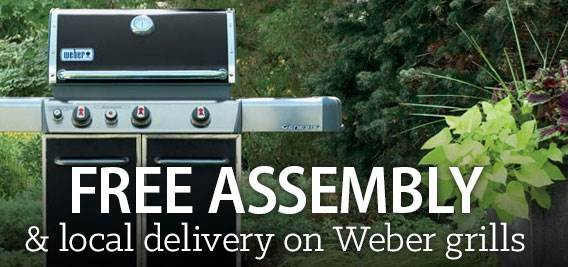 Free assembly & local delivery on Weber grills