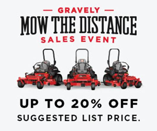 20% off Commercial Mower Sale 3/22-3/30