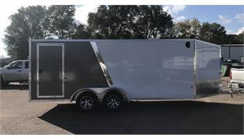 2019 EZES 7 X 18 Aluminum Snowmobile Trailer
