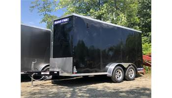 2019 7x14 Pro Series Enclosed Trailer  (Black)  (0202)