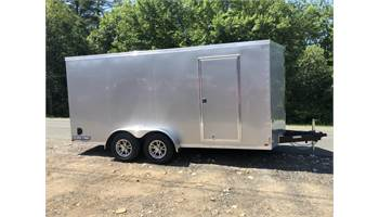 7x16  Pro Series Enclosed Trailer  (Silver)  (0203)