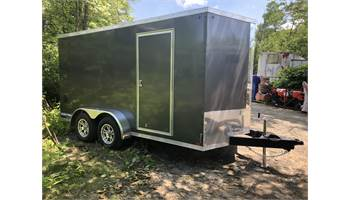 2019 7x14 Pro Series Enclosed Trailer  (Charcoal)  (6009)