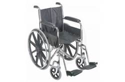 """18"""" WHEELCHAIR WITH FIXED ARM RESTS"""