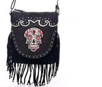 Sugar Skull Fringe Cross Messenger Bag For In Daytona Beach Fl Midwest Motorcycle 386 257 6265