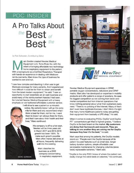 Newtec article