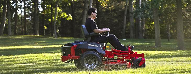 riding Gravely mower