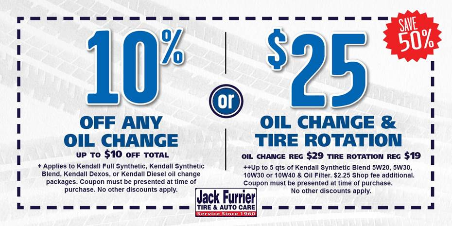 Synthetic Oil Change Coupons >> Jack Furrier Tire Auto Care In Tucson Az