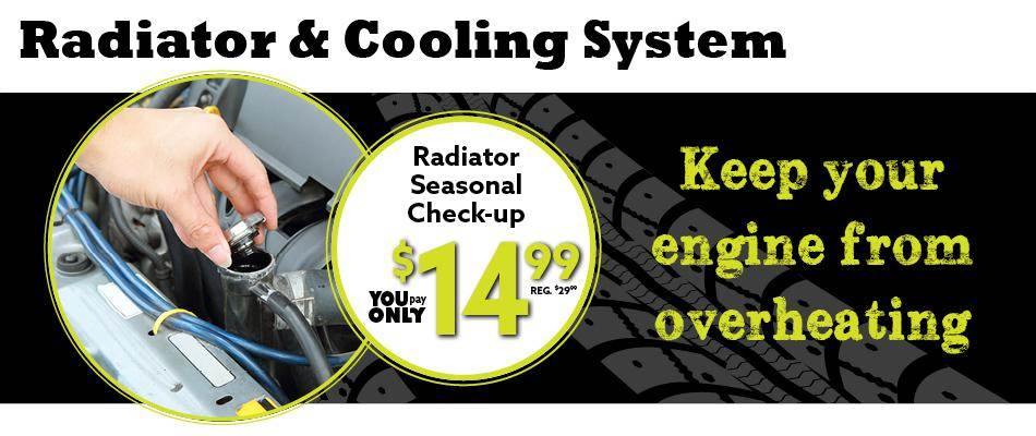 service radiator system and cooling