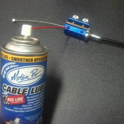 Motoion Pro cable lube and tool