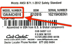 cub-cadet-model-number-label