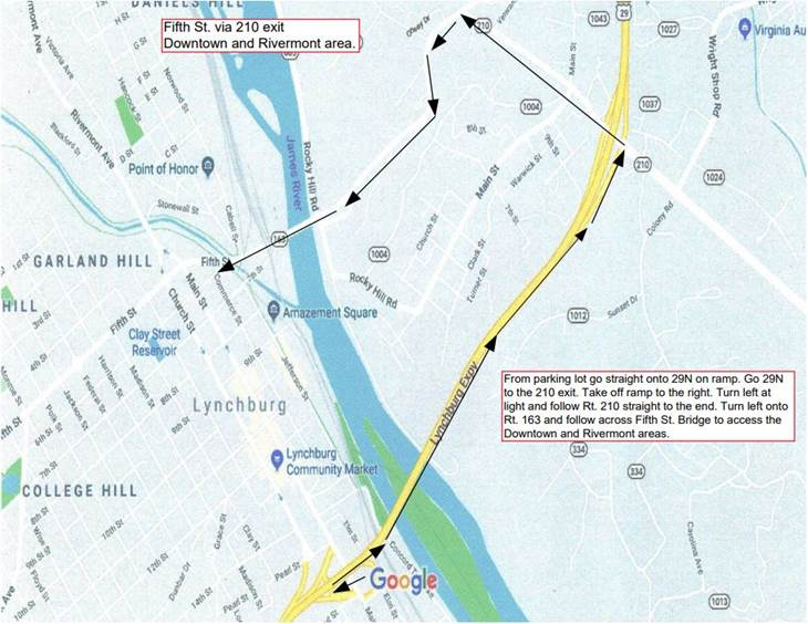 Detour Maps Myers & Rhodes Lynchburg, VA (434) 845-0937