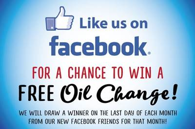Like Us on Facebook for a chance to win a Free Oil Change at Noyes Auto