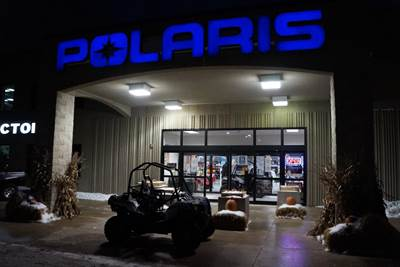 Polaris Logo at Night