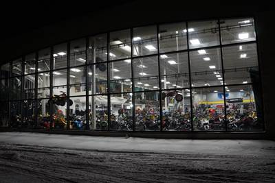 Outside Tousley Motorsports at Night