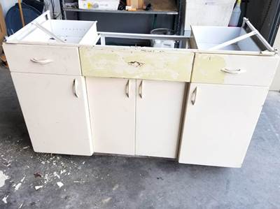 OLD SCHOOL CABINET BEFORE