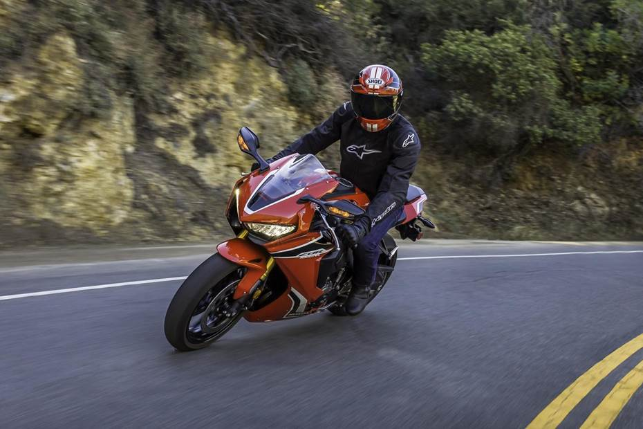 Man riding a Honda Sport Bike
