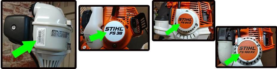 stihl fs 240 serial number location