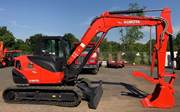 KX080-4 with Hydraulic Thumb