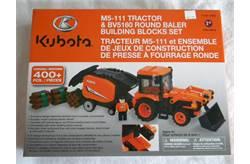 Kubota M5-111 tractor & BV5160 Round Baler Building Block Set