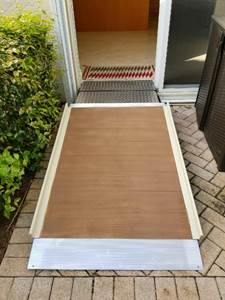 Painted wheelchair ramp