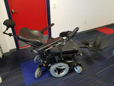 Permobil ELR power wheelchair