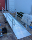 HISA grant funding for wheelchair ramp, mobility ramps with double railings, portable ramps, wheelchair ramps for home,  ada ramp, metal ramps, folding ramps, handicap ramp slope, mobility ramps, aluminum ramp,