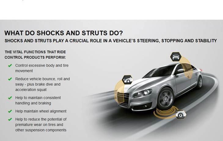 what do shocks and struts do