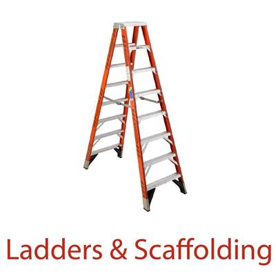 Ladder and scaff text image