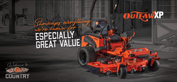 BadBoy OutlawXP mower available at Brad's Tire Service Center