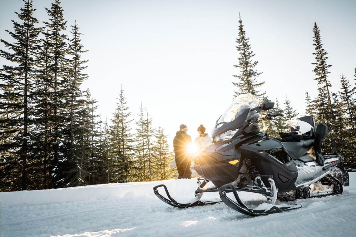 2019 Grand Touring Sport Snowmobile Close up
