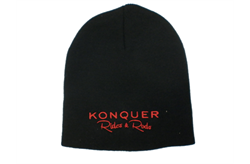 Konquer Rides & Rods Black Toque With Red Logo